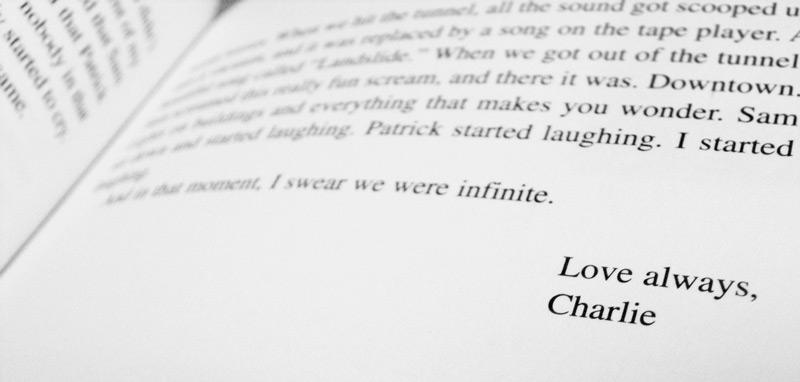 Última página del libro Ventajas de ser un marginado. Una oda a la adolescencia