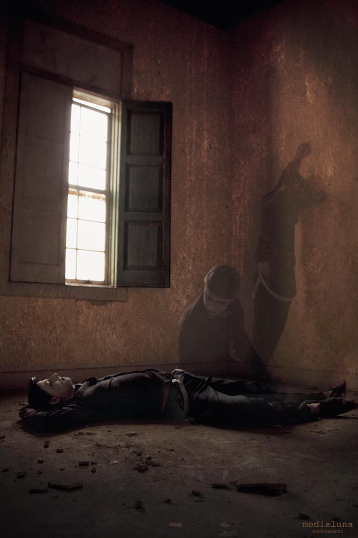 Foto del vocalista de Mondo Diávolo que inpira un relato sobre la muerte
