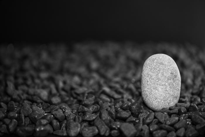 Una sencilla piedra blanca que destaque sobre el resto puede ser el mayor tesoro de tu búsqueda.