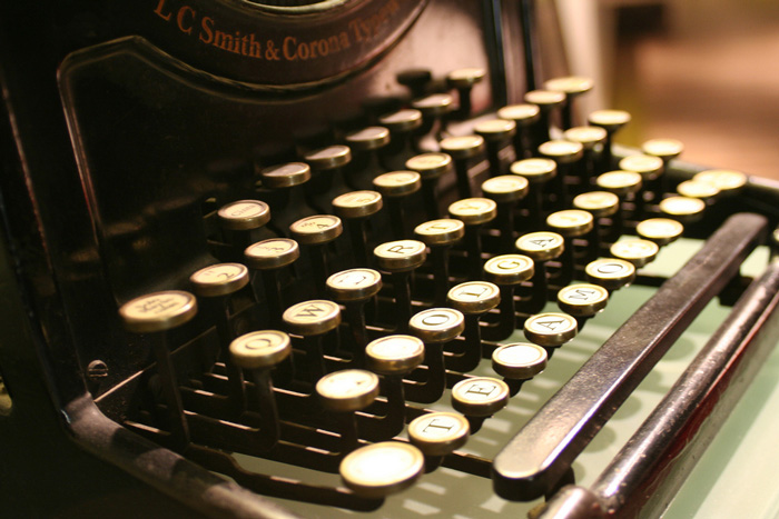 Máquina de escribir. Una prometedora imagen para el año 2017