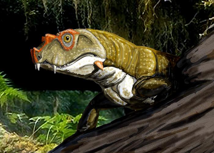 Ilustración del Tetraceratops singsignis para esta fábula climática