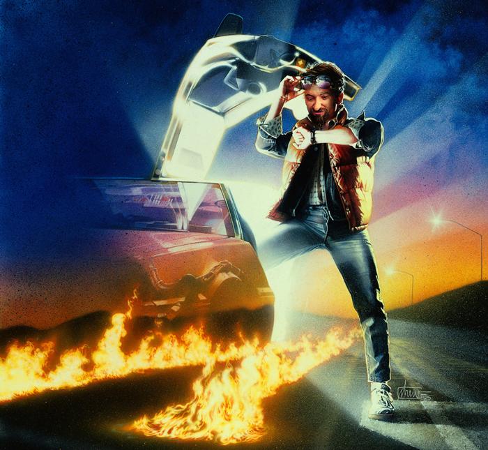 Portada de Regreso al futuro con mi cara. Un homenaje al cine de los 80. No pude resistirme.