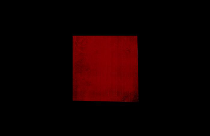 Cuadrado rojo sobre fondo negro
